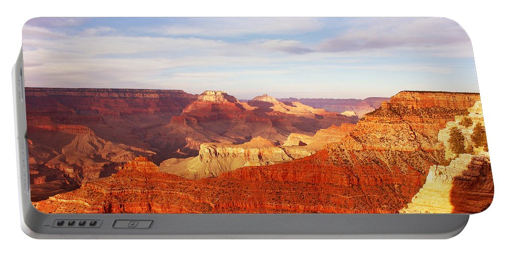 Grand Canyon Portable Battery Charger featuring the photograph Sunset At Mather Point Grand Canyon by Laurie Larson