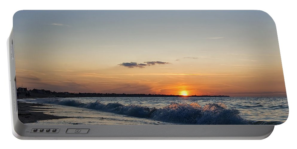Sunset Portable Battery Charger featuring the photograph Sunset At Riva by Jean-Pierre Ducondi