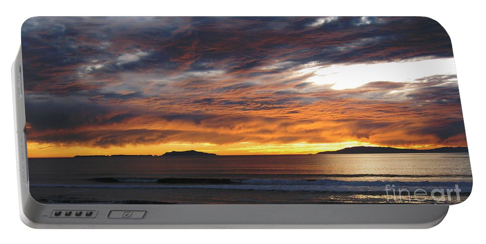 Sunset Portable Battery Charger featuring the photograph Sunset At The Shores by Janice Westerberg