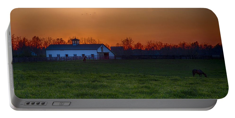 Animal Portable Battery Charger featuring the photograph Walmac Farm Ky by Jack R Perry