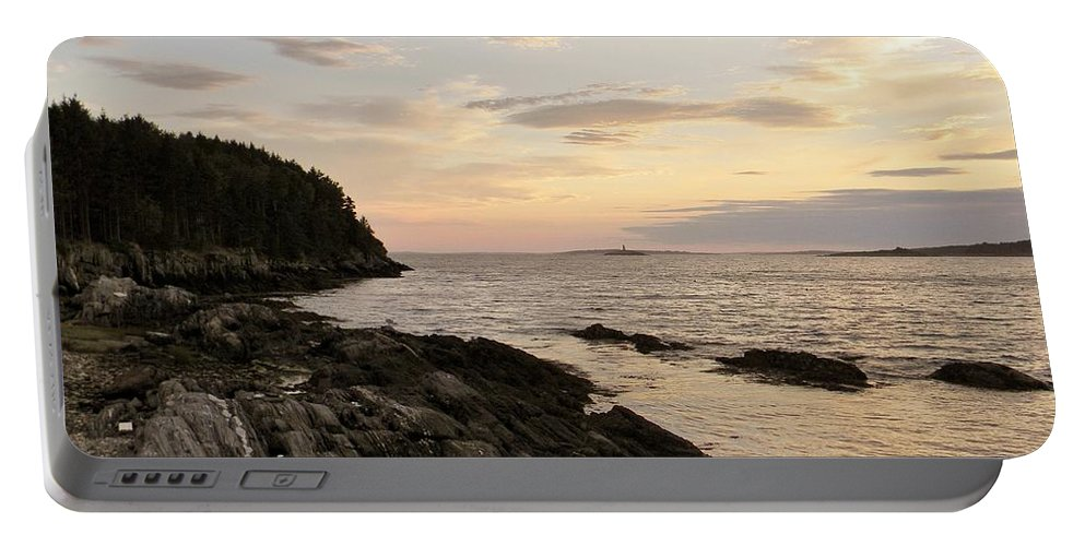 Maine Portable Battery Charger featuring the photograph Sunset By The Sea by Jean Goodwin Brooks
