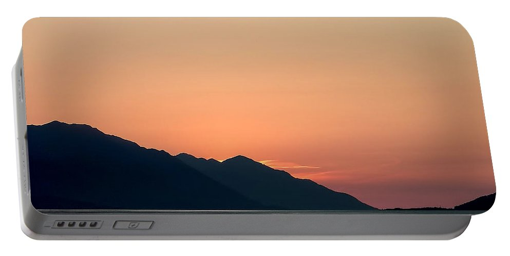 Alaska Portable Battery Charger featuring the photograph Sunset Cook's Inlet Alaska by Laura Duhaime