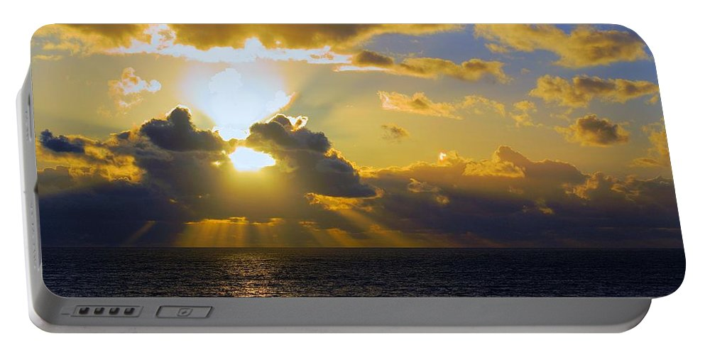 Gower Portable Battery Charger featuring the photograph Sunset From The Mumbles by Ron Harpham