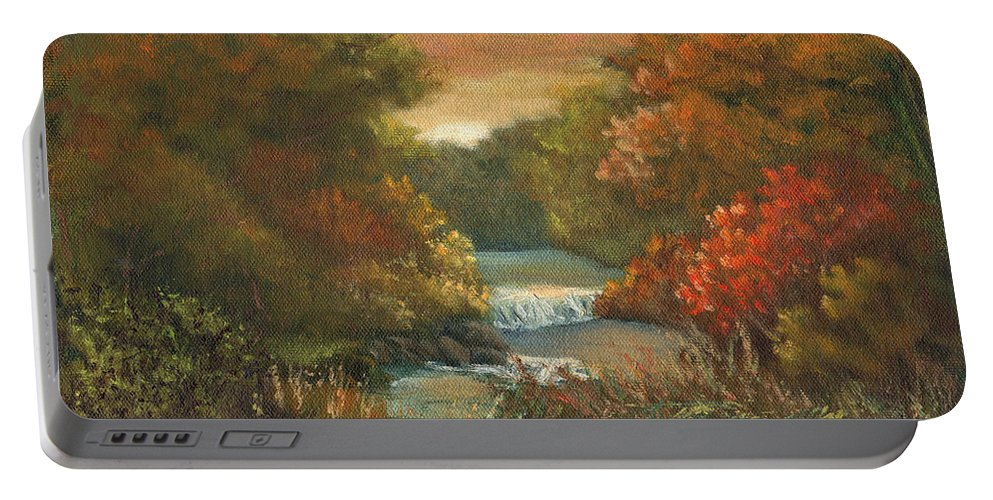 Sunset Portable Battery Charger featuring the painting Sunset Glow by Sharon E Allen