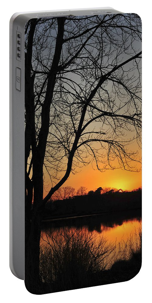 Sunset Glow Portable Battery Charger featuring the photograph Sunset Glow Toms River New Jersey by Terry DeLuco
