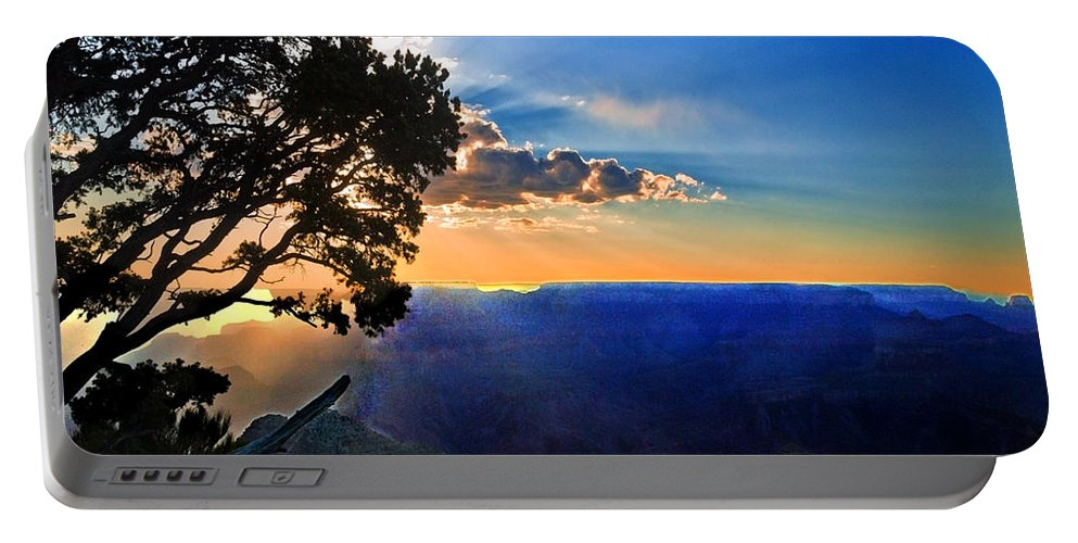 Arizona Portable Battery Charger featuring the photograph Sunset Grand Canyon by Bob and Nadine Johnston
