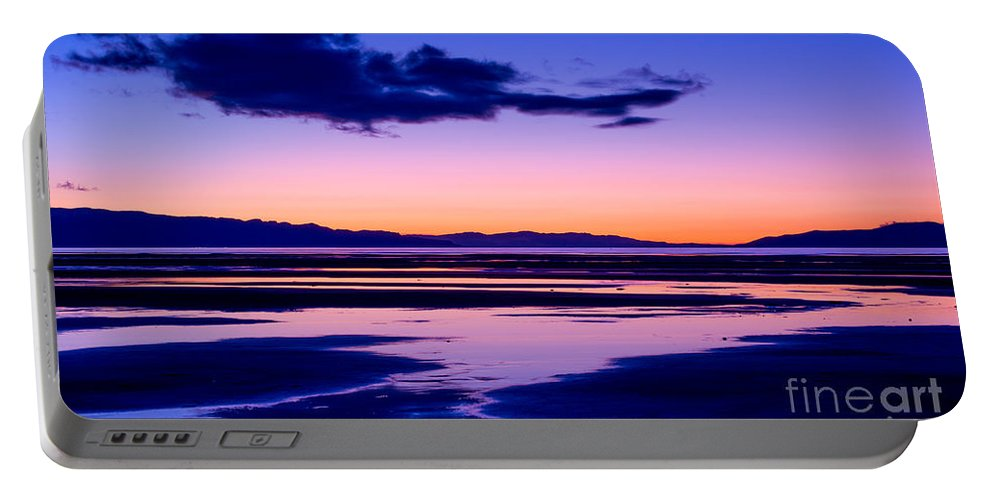 Sunset Portable Battery Charger featuring the photograph Sunset Great Salt Lake - Utah by Gary Whitton