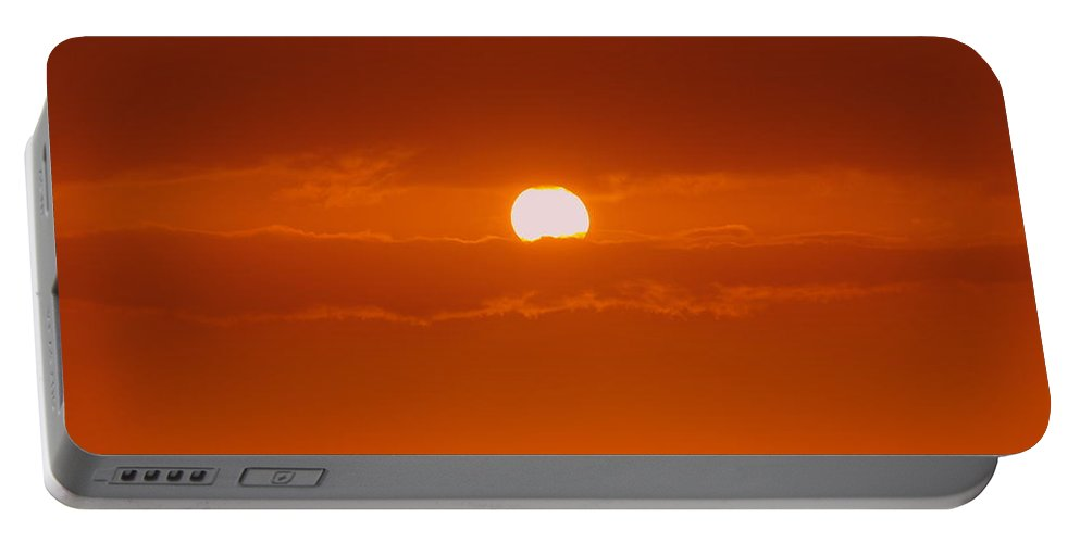 Sun Rise Portable Battery Charger featuring the photograph Sunset In Kona by Athala Carole Bruckner
