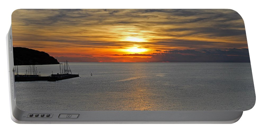 Slovenia Portable Battery Charger featuring the photograph Sunset In Koper by Tony Murtagh