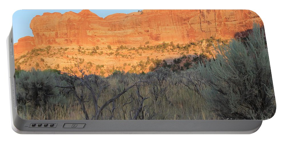 Utah Portable Battery Charger featuring the photograph Sunset In The Desert Canyon 2 by Tonya Hance