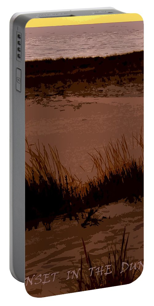 Travel Portable Battery Charger featuring the photograph Sunset In The Dunes by Michelle Calkins
