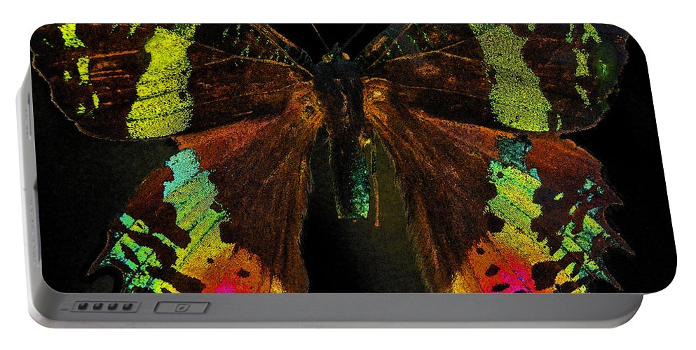 Sunset Moth Portable Battery Charger featuring the photograph Sunset Moth by Bill Owen