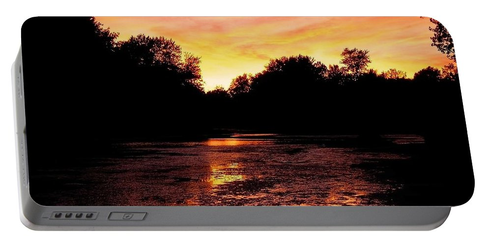 North America Portable Battery Charger featuring the photograph Sunset Near Rosemere - Qc by Juergen Weiss