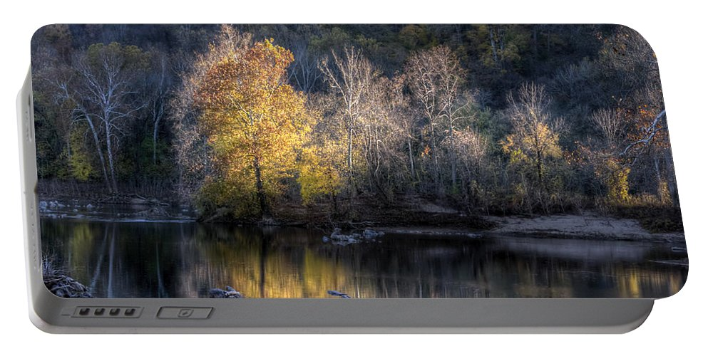 Nature Portable Battery Charger featuring the photograph Sunset On Billy Goat Trail by Francis Sullivan