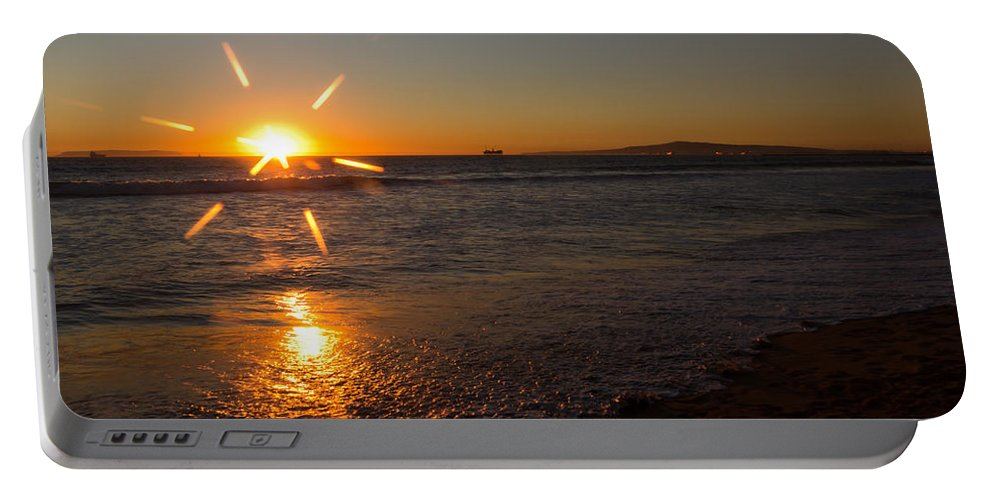 Background Portable Battery Charger featuring the photograph Sunset On Sunset Beach by Heidi Smith