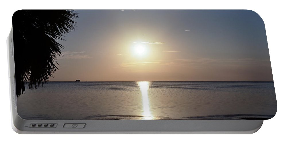 Sunset Portable Battery Charger featuring the photograph Sunset On The Gulf Of Mexico by Bill Cannon