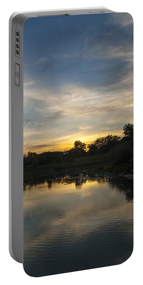 Sunset Portable Battery Charger featuring the photograph Sunset On The Water by Patrick Warneka