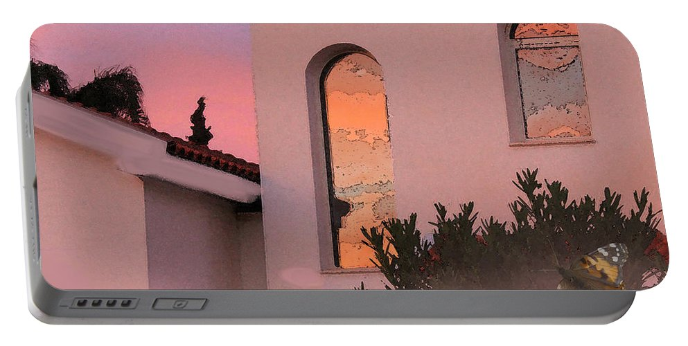 Augusta Stylianou Portable Battery Charger featuring the photograph Sunset On Windows by Augusta Stylianou