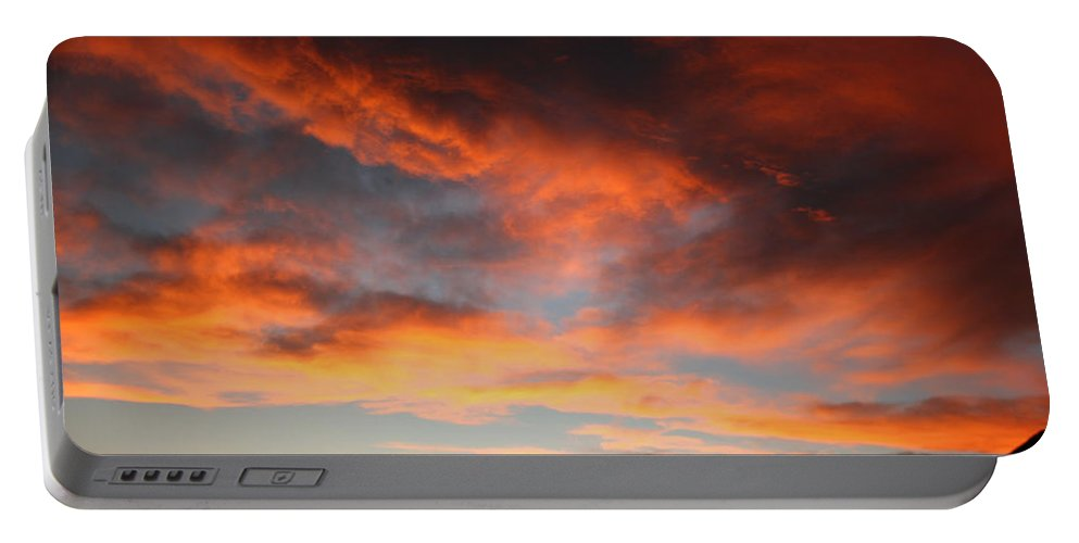 Sunset Portable Battery Charger featuring the photograph Sunset Over Estes Park by Angie Schutt