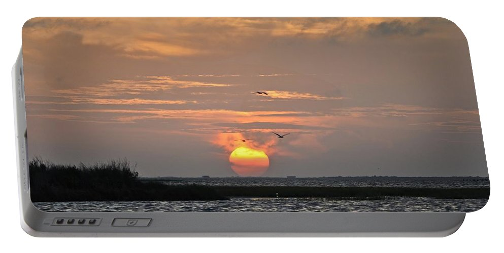 Galveston Portable Battery Charger featuring the photograph Sunset Over Lake Como by Kristina Deane