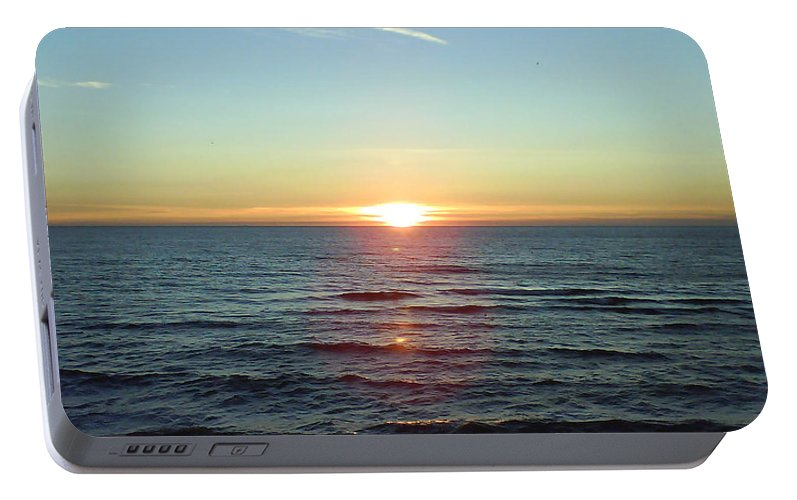 Sunset Over Sea Portable Battery Charger featuring the photograph Sunset Over Sea by Gordon Auld