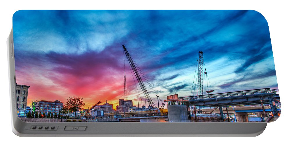 Architecture Portable Battery Charger featuring the photograph Sunset Over St. Paul by Andrew Slater