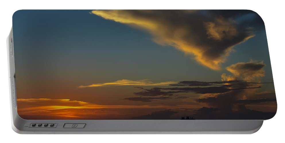 Sun Portable Battery Charger featuring the photograph Sunset Over The Laguna Madre by Debra Martz