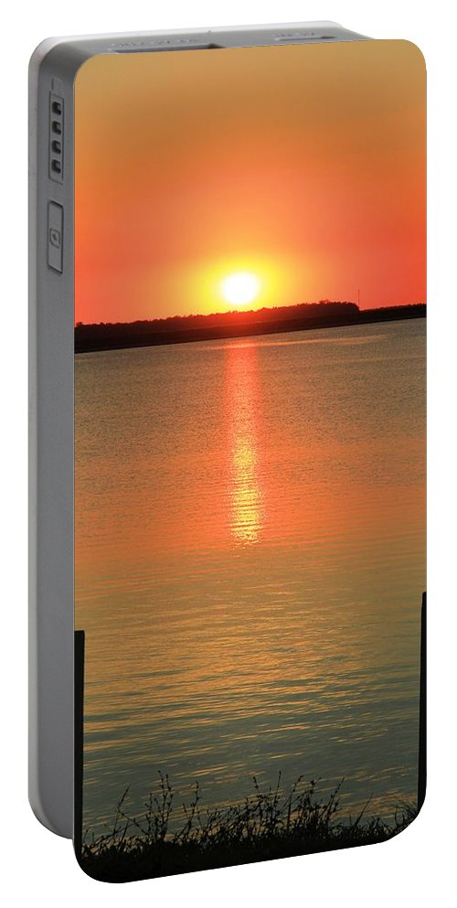 Sunset Reflections Portable Battery Charger featuring the photograph Sunset Reflections by Dan Sproul