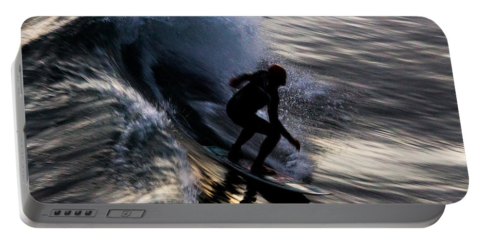 Sunset Portable Battery Charger featuring the photograph Sunset Ride by John Daly