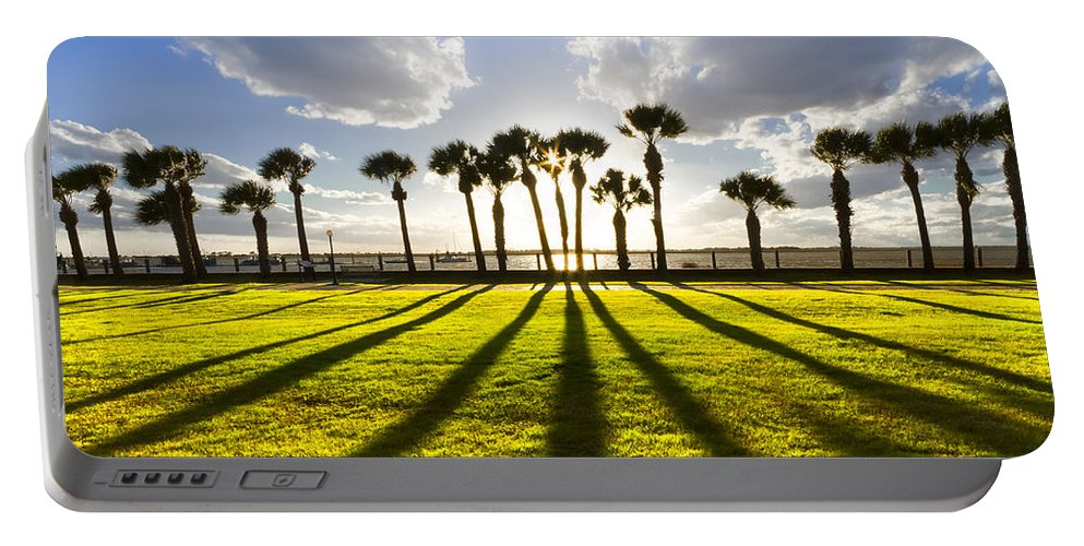 American Portable Battery Charger featuring the photograph Sunset Sentinels by Debra and Dave Vanderlaan