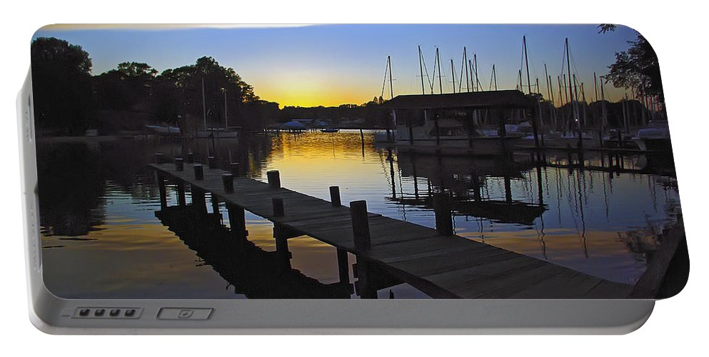 2d Portable Battery Charger featuring the photograph Sunset Silhouette by Brian Wallace