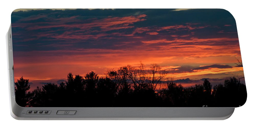 Sunset Sky Portable Battery Charger featuring the photograph Sunset Sky by Cheryl Baxter