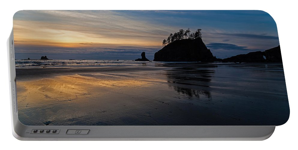 Pacific Portable Battery Charger featuring the photograph Sunset Tide by Mike Reid