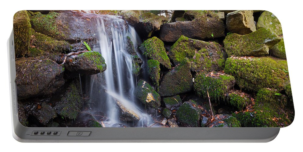 Dublin Portable Battery Charger featuring the photograph Sunset Waterfalls In Marlay Park by Semmick Photo