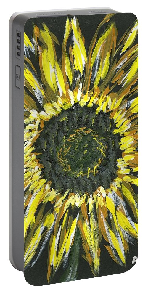 Flower Portable Battery Charger featuring the painting Sunshine by Alice Faber