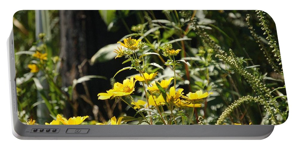 Wildflowers Portable Battery Charger featuring the photograph Sunshine Flowers by Lucy Bounds