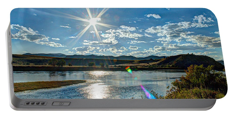 Landscape Portable Battery Charger featuring the photograph Sunshine On The Missouri by John Lee