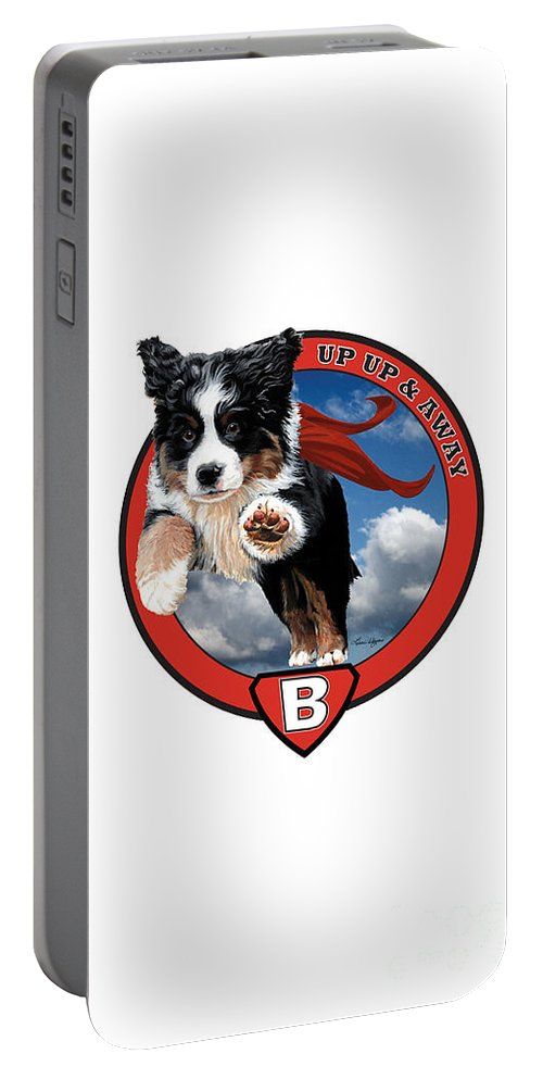 Super Berner Flying. Portable Battery Charger featuring the painting Super Berner Phone by Liane Weyers