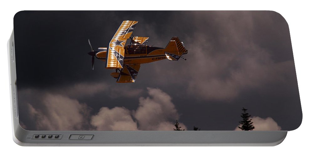 Biplane Portable Battery Charger featuring the photograph Super Dave by Randy Hall