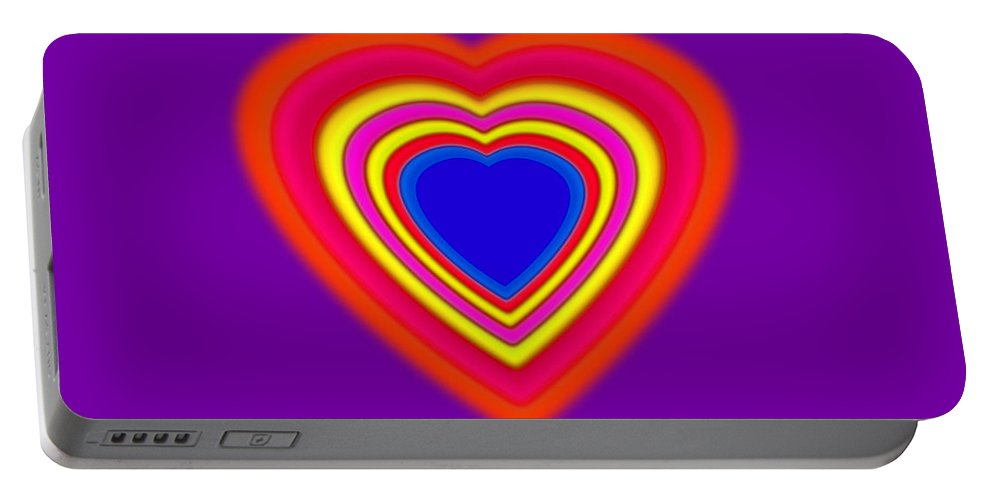 Super Portable Battery Charger featuring the painting Super Love by Charles Stuart