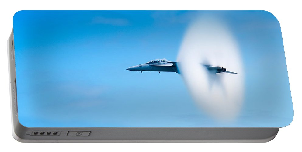 F18 Portable Battery Charger featuring the photograph Super Sonic by Sebastian Musial