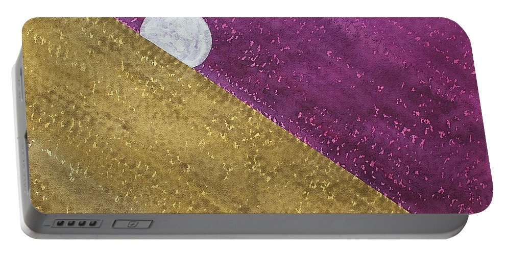 Moon Portable Battery Charger featuring the painting Supermoon Original Painting by Sol Luckman