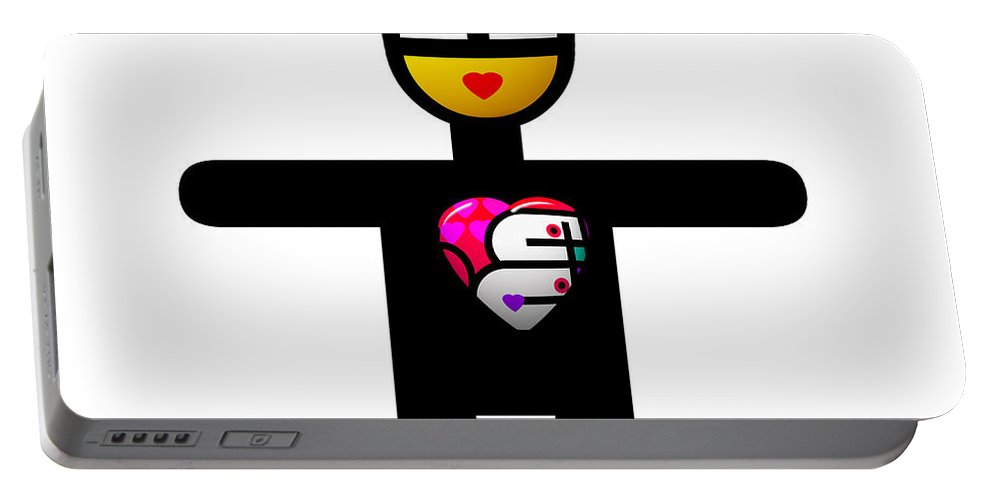 Surely Valentine Portable Battery Charger featuring the digital art Surely Valentine by Charles Stuart