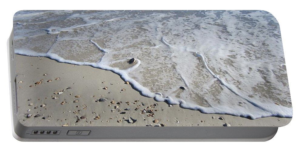 Beach Portable Battery Charger featuring the photograph Surf by Nancy Worrell