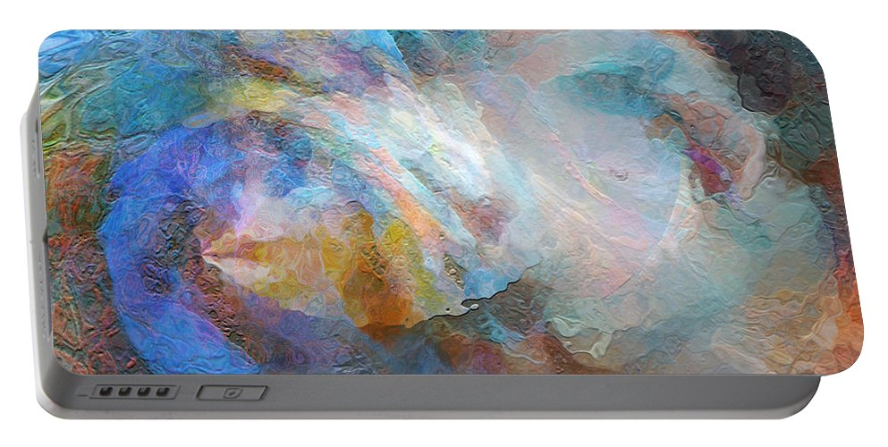 Hotel Art Portable Battery Charger featuring the digital art Surf Of The Spirit by Margie Chapman