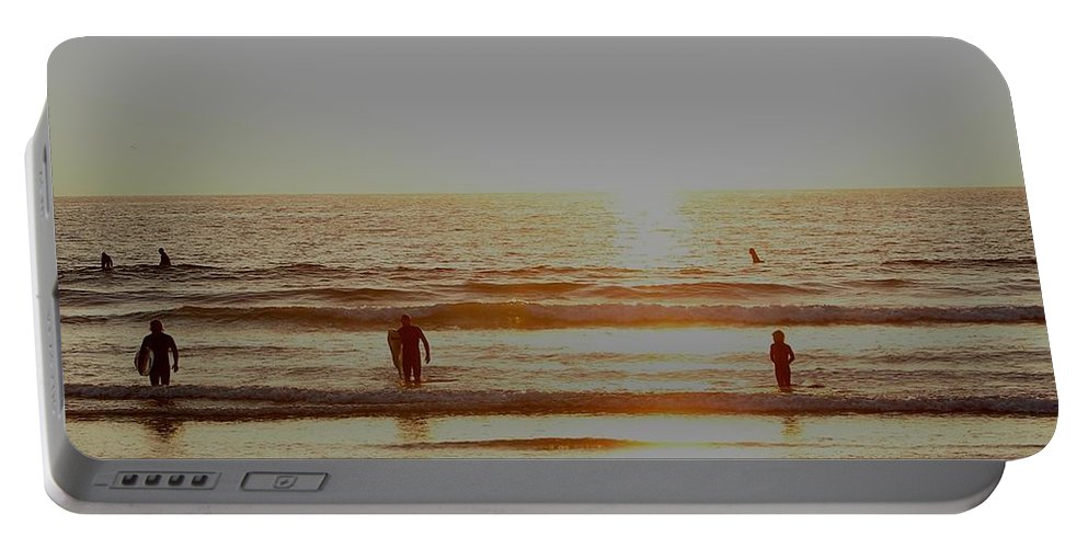 California Portable Battery Charger featuring the photograph Surf Up by Keisha Marshall