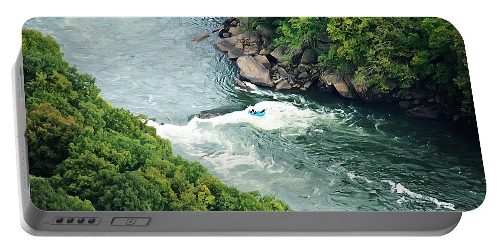 Rafting Portable Battery Charger featuring the photograph Surfing by Aimee L Maher ALM GALLERY