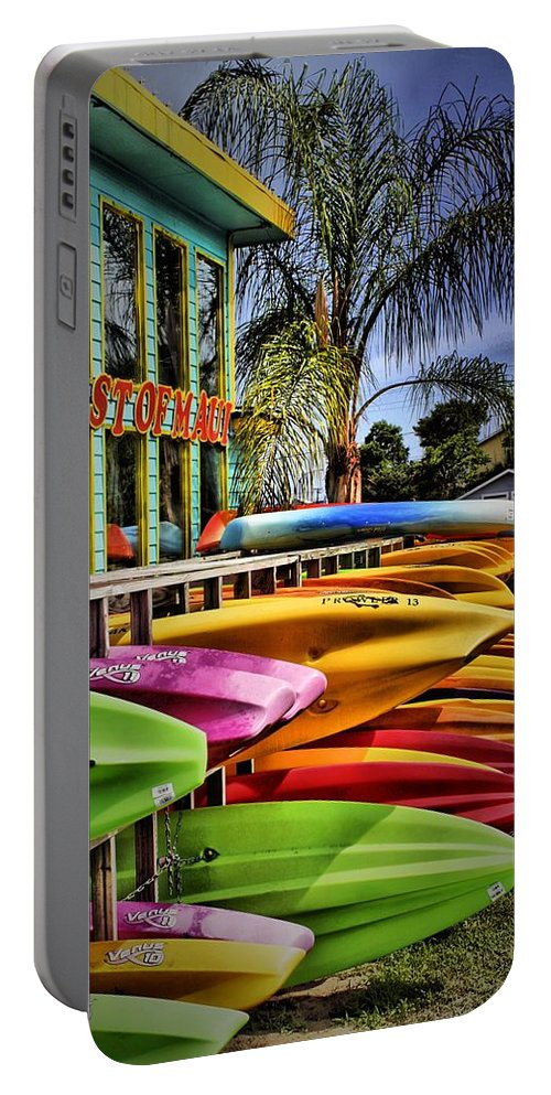 Surfboards Portable Battery Charger featuring the photograph Surf's Up by Robert McCubbin