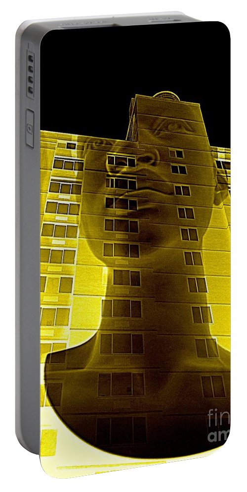Pop Art Portable Battery Charger featuring the digital art Surreal Thoughts by Ed Weidman