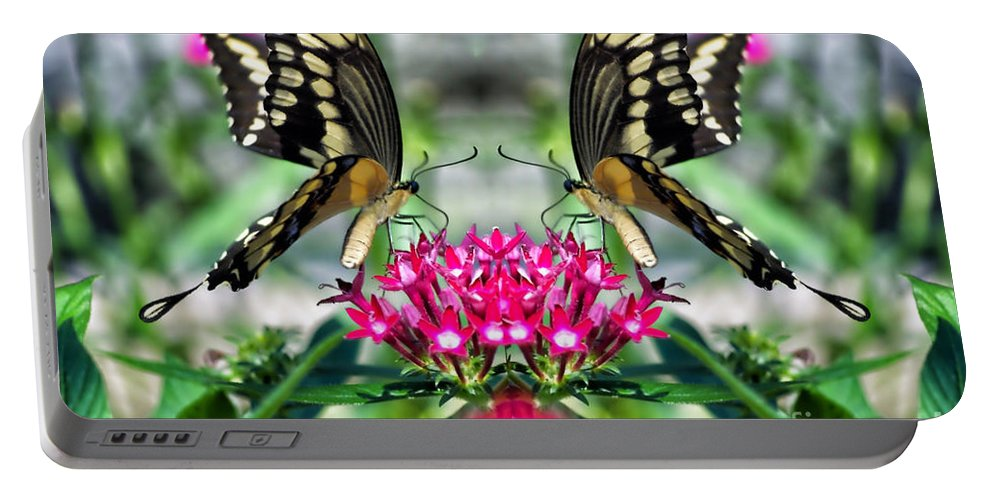 Butterfly Portable Battery Charger featuring the photograph Swallowtail Butterfly Digital Art by Thomas Woolworth